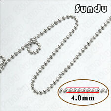 """5.0MM Ballchain Stainless steel  Necklaces Ball Chain 8/""""to40/""""10-100pcs x"""