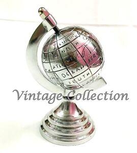 Handmade Antique Aluminium Globe Vintage Nautical Home & Office Table Top Decor