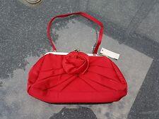 "Ladies BNWT ""Per Una"" Red Satin Evening Clutch bag"
