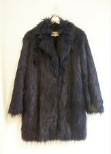 Michael Kors Women's Navy Faux Fur Coat Size S #11/M657/M FB