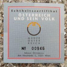 1 x Österreich 500 Schilling Silber 2001 Festung Kufstein Echtheitszertifikat