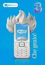 Skype Phone Italian Advertising Postcard Unposted