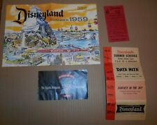 1959 Disneyland Summer Brochure Parking Ticket Upjohn Drugstore 1st Time Visit