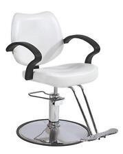 White Classic Hydraulic Barber Chair Styling Salon Beauty 3W