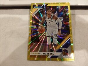 2019-20 Panini Donruss D'Angelo Russell #21 Holo Yellow Laser 21/25