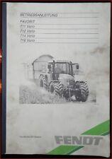 Fendt rimorchiatori preferito 711, 712, 714, 716 vario manuale di istruzioni