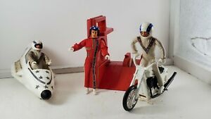 Lot of 6 Vintage Evel Knievel Canyon Sky Stunt Cycle Ideal Old Toy Motorcycle