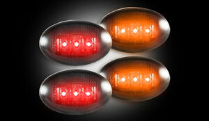 1999-2010 Ford F250 350 Dually LED Smoked Rear Fender Side Marker Lights Lamps