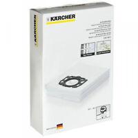 KARCHER WD4 WD5 WD6 Renovation Genuine Vacuum Cleaner Fleece Dust Bags x 4