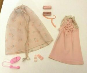 Vintage 1960's Barbie Doll Clone Outfit Pink Nightgown Set