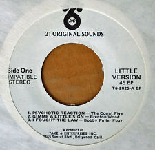 """BOBBY FULLER 4, SIR DOUG QUIN,, COUNT 5..- TAKE 6  - 7"""" STEREO EP -  6 TRACK PRO"""