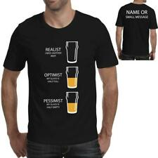Beer Glass T-Shirt Realist Funny Fathers day Grandad Gift