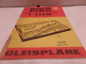 Katalog Gleispläne Piko Spur N 1976 DDR selten