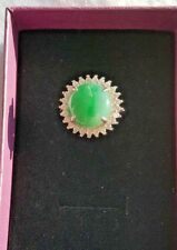 Genuine Nice Geen 5.15ct Jadeite Jade (Type A) 925 Silver Ring SIZE Adjustable