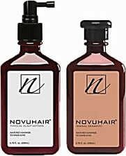 NOVUHAIR Shampoo and Hair Lotion Nature's Answer to Hair Loss FREE SHIPPING