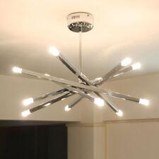 Modern Chrome Rod Star LED Pendant Lamp Ceiling Hanging Chandelier 12 Lights