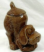 McCoy Dog Cookie Jar 0272 USA Brown Ceramic Vintage