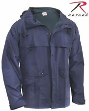 Rothco Mens Navy Blue Waterproof Microlite PVC Coated Nylon Rain Coat Jacket