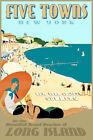Five Towns Long Island New York South Shore New Retro Art Deco Poster Print 341