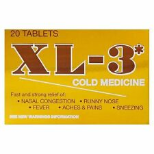 XL-3 Cold Medicine 20 Tablets, Best By