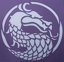 Scrapbooking - STENCILS TEMPLATES MASKS SHEET - Dragon 02 Stencil