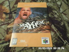 WCW Mayhem (Nintendo 64) Instruction Manual Booklet Only... NO GAME