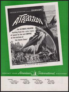 ATRAGON__Original 1964 Trade AD / ADVERT__Ishiro Honda_TOHO_ TSUBURAYA_Atoragon