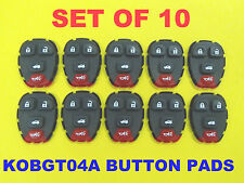 NEW Lot of 10 Replacement Remote Rubber Button Pads 4 Button Trunk KOBGT04A Set