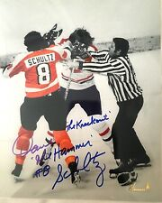Philadelphia Flyers Dave The Hammer Schultz Autographed Photo The Punch Knockout