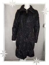 F  - Magnifique Manteau Doudoune Fantaisie Noir  DDP Taille 38 / 40