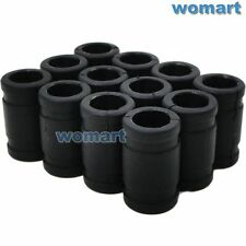 12x RC Nitro Engine Silicone Joint Coupling Pipe Black 38mm Long For 1/8 Exhaust