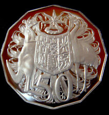 AUSTRALIA: 2012 50 CENTS PROOF COAT OF ARMS  ENCAPSULATED LOW MINT 8072