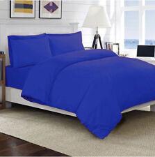 UK 5 PC Duvet Set Egyptian Cotton 1000 Thread Count All Size Egyptian Blue Color