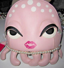 BETSEY JOHNSON OCTOPUS COSMETIC BAG I WANT TO HOLD YOUR HAND