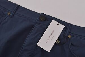 Luciano Barbera NWT 5 Pocket Casual Pants Sz 58 42 US Navy Blue Cotton Blend