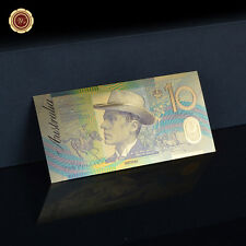 WR Commonwealth of Australia $10 Dollar Note World Coloured Gold Banknote Gifts