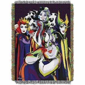 New Villains Group Tapestry Throw Gift Blanket Disney Maleficent Cruella Ursula