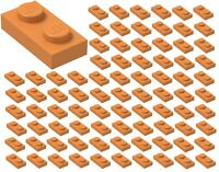 ☀️Lego 1x2 ORANGE Plates x100 Building Part Piece Bulk Lot Legos #3023