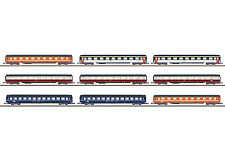 Märklin 87409 Z Gauge Display with 9 Eurofima Wagon # NEW ORIGINAL PACKAGING #