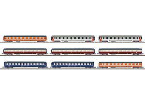 Märklin 87409 Spur Z Display mit 9 Eurofima-Wagen  #NEU in OVP#