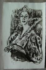 Ancienne lithographie XXème épreuve d'artiste signée