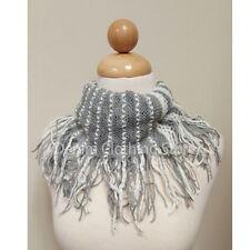Women's Tunnel Soft Fishnet Cowl Fringe Net Cowl Infinity Scarf Loop Warm Winter