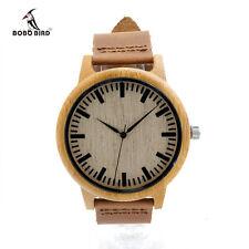 Relojes de pájaro bobo relogio masculino de Pulsera de Madera de Bambú Cuarzo Reloj De Moda