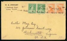 Mayfairstamps Australia Commercial 1963 Cover Sydney Pairs wwh78669
