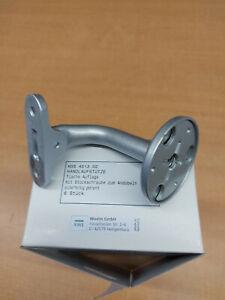 6 Stück KWS Handlaufstütze 4513.02 flache Auflage silber lackiert