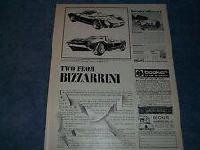 "Bizzarrini Sports Cars Vintage Info Article ""Two from Bizzarrini"" P538 Iso Grifo"