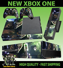 XBOX ONE CONSOLE STICKER JOKER AND HARLEY CRAZY LOVE GOTHAM SKIN & 2 PAD SKINS