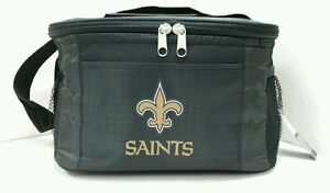 NFL New Orleans Saints Lunch Bag - Insulated Box Tote - 6-Pack Cooler