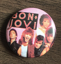 BON JOVI BUTTON BADGE - AMERICAN ROCK BAND Keep The Faith Jon Bon Jovi 25mm Pin