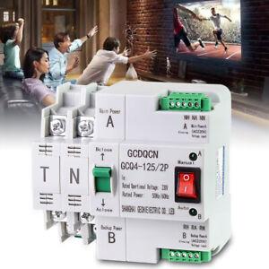New Automatic Transfer Switch 2P 63A 220V 50/60Hz Dual Power PC Level Switch AU